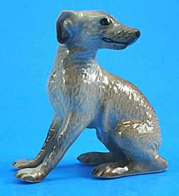 K1651 Sad Sitting Greyhound Type Dog (Image1)