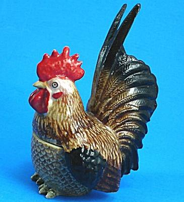 K6151 Brown Rooster Trinket Box (Image1)