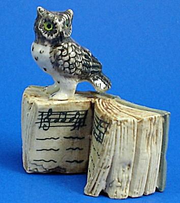 Klima K482 Owl on Antique Style Book (Image1)