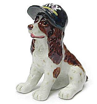 R222Br Spaniel Wearing Navy Cap (Image1)