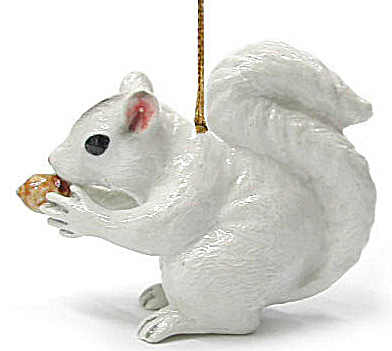 R271 White Squirrel Ornament