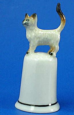 Klima K4151 Siamese Cat on Thimble (Image1)