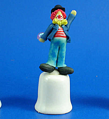 Handmade Clown On Porcelain Thimble