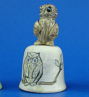 Hand Painted Ceramic Thimble - Owl