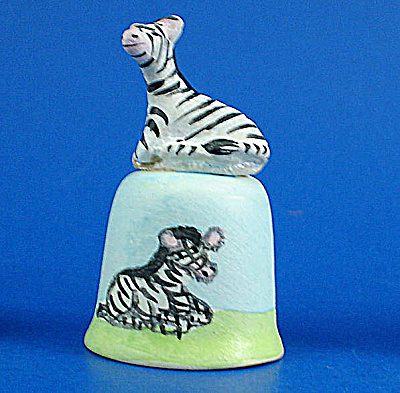 Hand Painted Ceramic Thimble - Zebra
