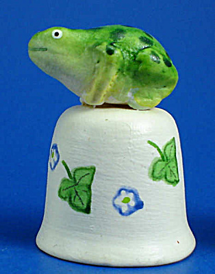 Hand Painted Ceramic Thimble - Frog