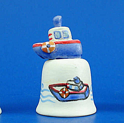 Hand Painted Ceramic Thimble - Toy Boat (Image1)