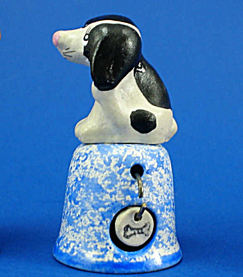 Hand Painted Ceramic Thimble - Puppy Dog
