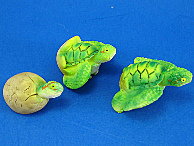 Resin Baby Sea Turtle Trio