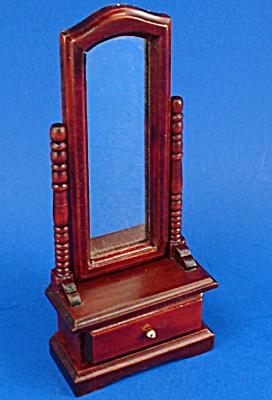 Dollhouse Wood Bedroom Mirror (Image1)
