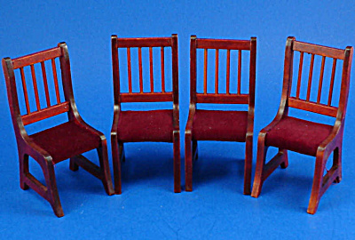 Dollhouse Wood Chairs, set of 4 (Image1)
