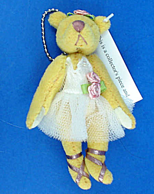 Miniature Plush Ballerina Teddy Bear
