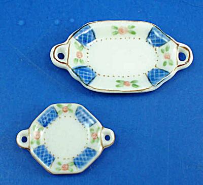 Dollhouse Miniature Platter Pair (Image1)