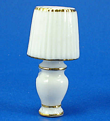 Dollhouse Miniature Porcelain Lamp (Image1)
