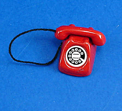Dollhouse Miniature Metal Telephone