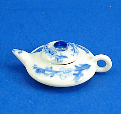 Dollhouse Miniature Porcelain Teapot