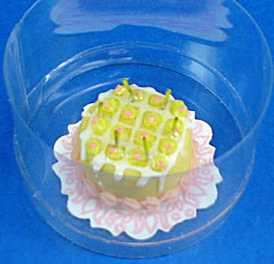 Dollhouse Miniature Birthday Cake