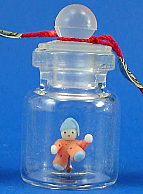 Miniature Clown Doll in a Bottle (Image1)