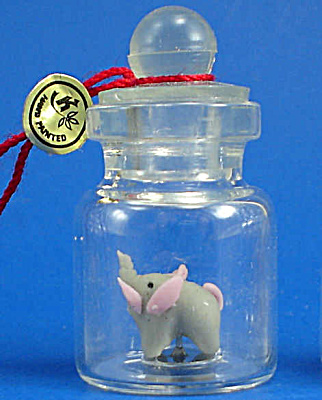 Miniature Elephant In A Bottle