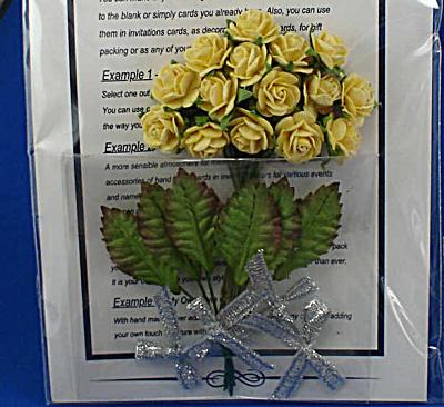 Miniature Paper Yellow Roses (Image1)