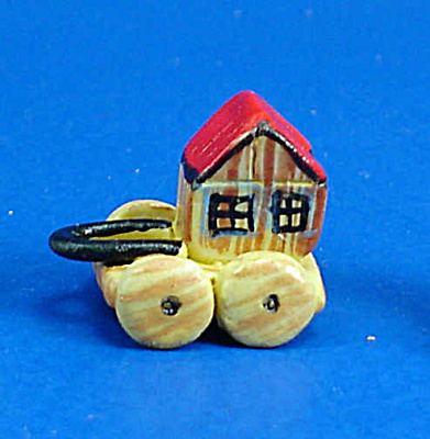 Dollhouse Miniature Hand Painted Ceramic Pull Toy