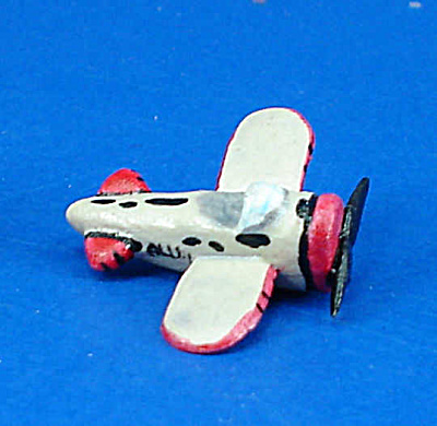Dollhouse Miniature Hand Painted Ceramic Toy Plane
