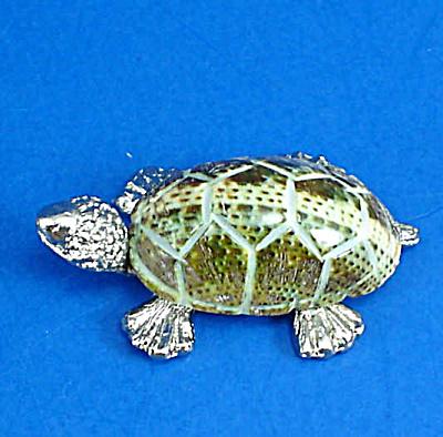 Miniature Metal and Shell Tortoise (Image1)