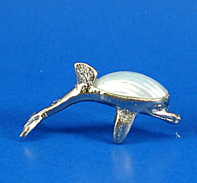 Miniature Metal and Shell Dolphin (Image1)