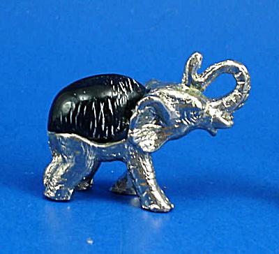 Miniature Metal and Shell Elephant (Image1)