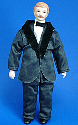Miniature Bisque Dollhouse - Man (Image1)