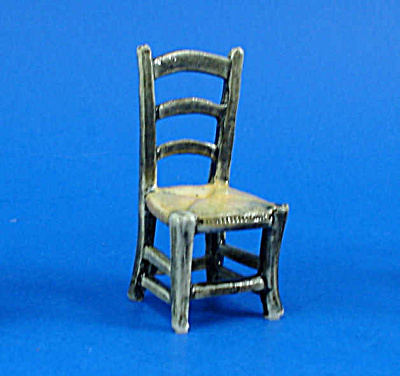1/2'' Scale Dollhouse Miniature Porcelain Chair