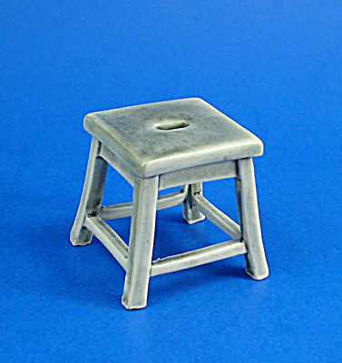 Dollhouse Miniature Porcelain Stool