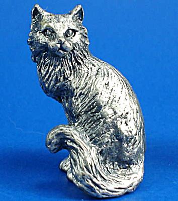 T112 Miniature Metal Sitting Persian Cat (Image1)