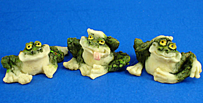 Three Cute Miniature Toads (Image1)