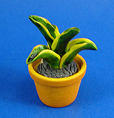 Dollhouse Miniature Plant In Clay Pot