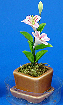 Dollhouse Miniature Flower In Planter