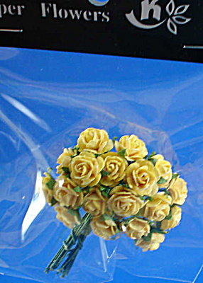 Miniature Paper Flowers - Yellow Rose (Image1)