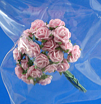 Miniature Paper Pink Roses (Image1)