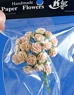 Miniature Paper Pale Pink Roses (Image1)