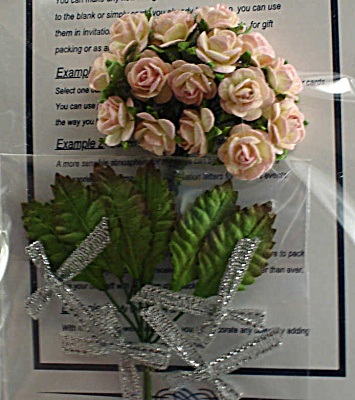 Miniature Paper Pale Pink Roses