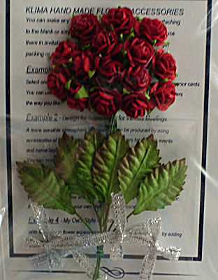 Miniature Paper Red Roses (Image1)