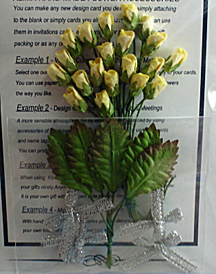 Miniature Paper Yellow Rose Buds (Image1)
