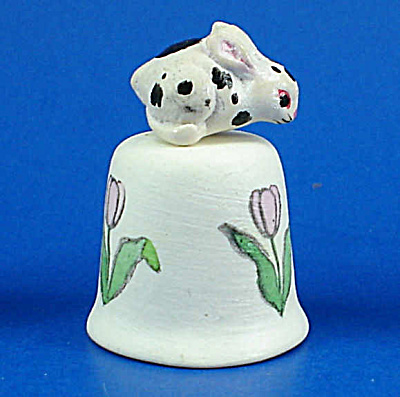 Handpainted Ceramic Thimble - Bunny Rabbit (Image1)