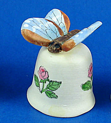Handpainted Ceramic Thimble - Butterfly (Image1)