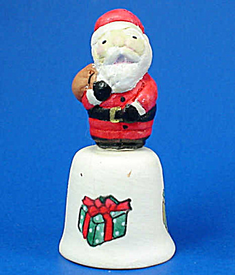 Hand Painted Ceramic Thimble - Santa (Image1)