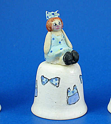 Hand Painted Ceramic Thimble - Doll (Image1)