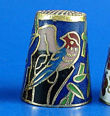 Klima Enameled Metal Thimble - Birds (Image1)