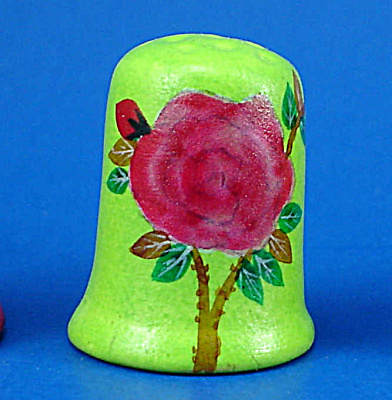 Hand Painted Ceramic Thimble - Floral (Image1)