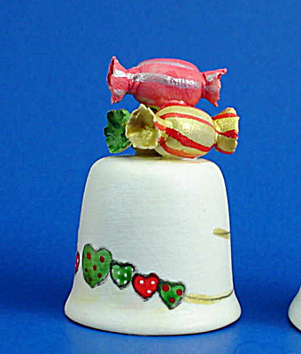 Hand Painted Ceramic Thimble - Candies (Image1)
