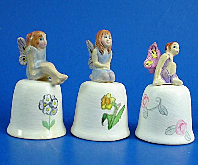 Hand Painted Ceramic Thimble - Fairy Trio (Image1)